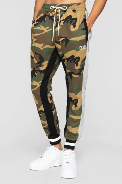 DOPE rally jogger sweatpants woodland camo pants and joggers camo TheDrop
