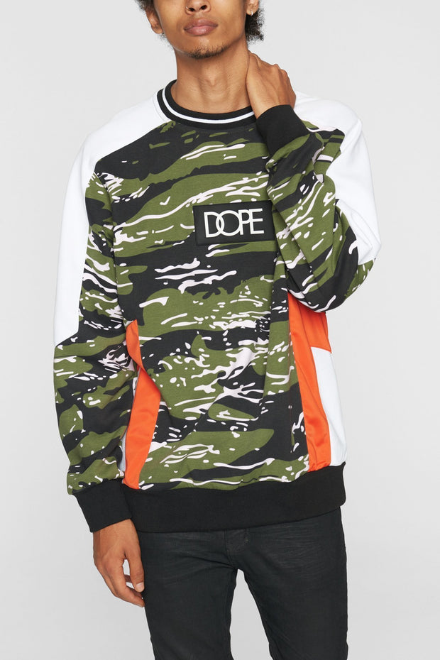 DOPE sprinter crew black orange jackets and outerwear black TheDrop