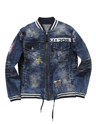 Dreamland night crawler jacket d1902o0043 dsw jackets and outerwear dark stone wash TheDrop