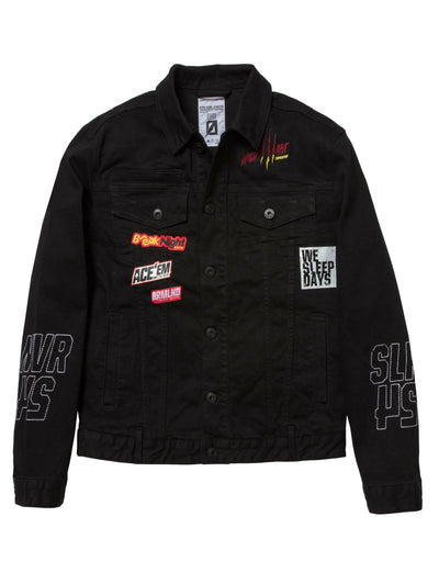 Dreamland snowstorm denim jacket d1911o0189 blk jackets and outerwear black TheDrop
