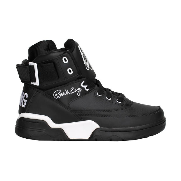 Ewing Athletics 33 hi black leather white og sneakers TheDrop
