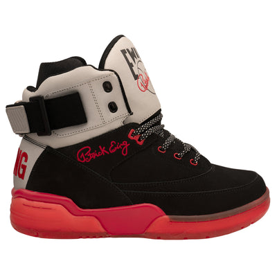 Ewing Athletics 33 hi black red reflective sneakers TheDrop