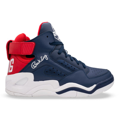Ewing Athletics baseline navy red white sneakers TheDrop