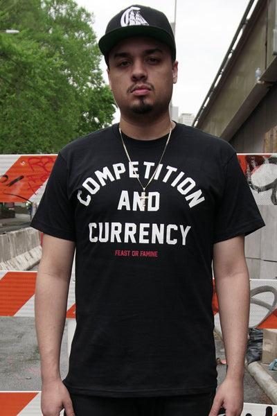 Feast or Famine competition currency tees black TheDrop