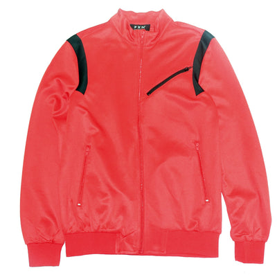 FXN jogger track jacket red black jackets and outerwear TheDrop