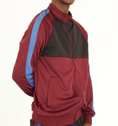 FXN moto block track jacket black burgundy royal blue jackets and outerwear TheDrop