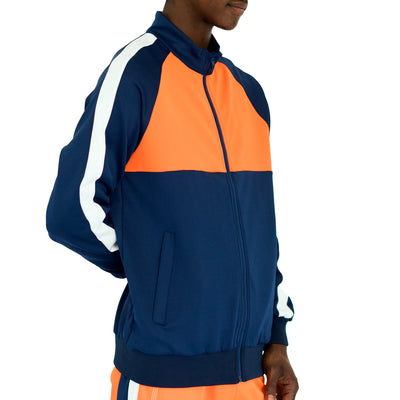 FXN moto block track jacket royal blue orange white jackets and outerwear TheDrop