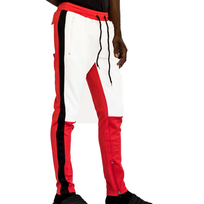 FXN moto block track pant red white black pants and joggers TheDrop