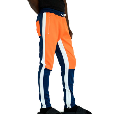 FXN moto block track pant royal blue orange white pants and joggers TheDrop