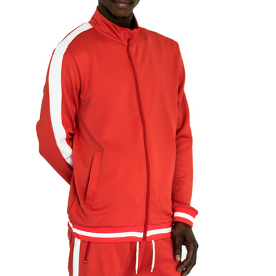 FXN side split stripe track jacket red white jackets and outerwear TheDrop