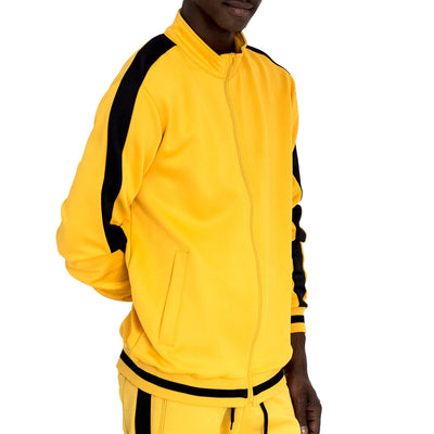 FXN side split stripe track jacket yellow black jackets and outerwear TheDrop