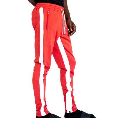 FXN side split stripe track pant red white pants and joggers TheDrop