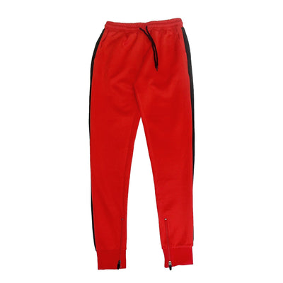 FXN track jogger red black pants and joggers TheDrop