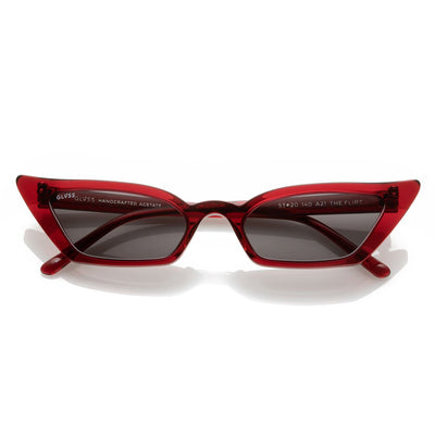 GLVSS a21 theflirt clearred smoke sunglasses TheDrop