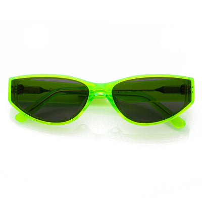 GLVSS a46 thesnake neongreen smoke sunglasses TheDrop