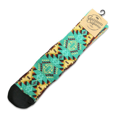 Grassroots desert lore turquoise socks socks and tights multi TheDrop