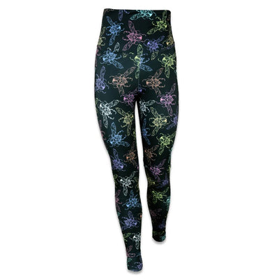 Grassroots ellie paisley love bug black yoga pants grassroots california multi TheDrop
