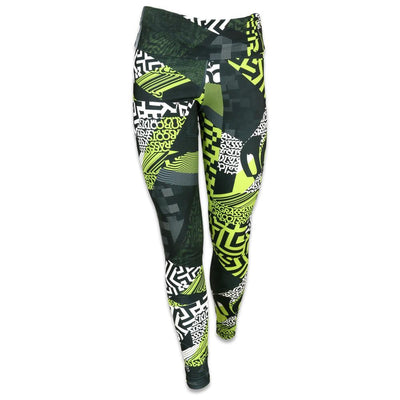 Grassroots neon glitch allover yoga pants leggings multi TheDrop