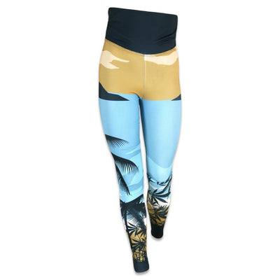 Grassroots tropical surfing bear yoga pants grassroots california multi TheDrop