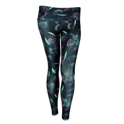 Grassroots tropicali yoga pants leggings TheDrop