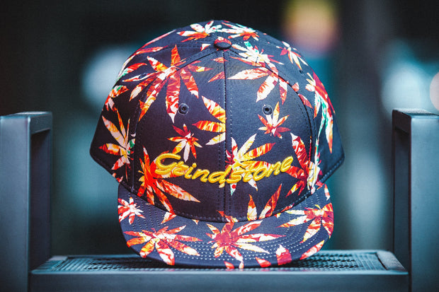 Grindstone Universal autumn leaves canna cap snapbacks TheDrop