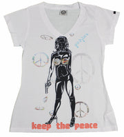 Grindstone Universal keep the peace v neck tees and tank tops TheDrop
