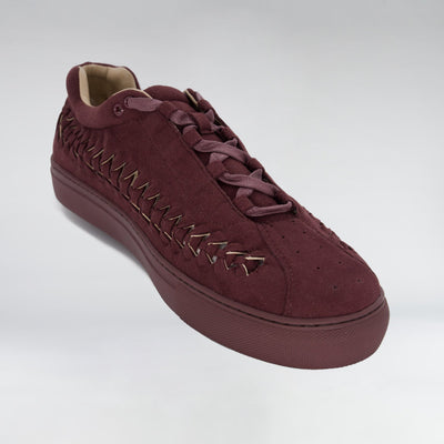 HIP AND BONE suede wire runner burgandy suede sneakers TheDrop