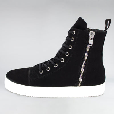 HIP AND BONE vision canvas suede slider black canvas sneakers TheDrop
