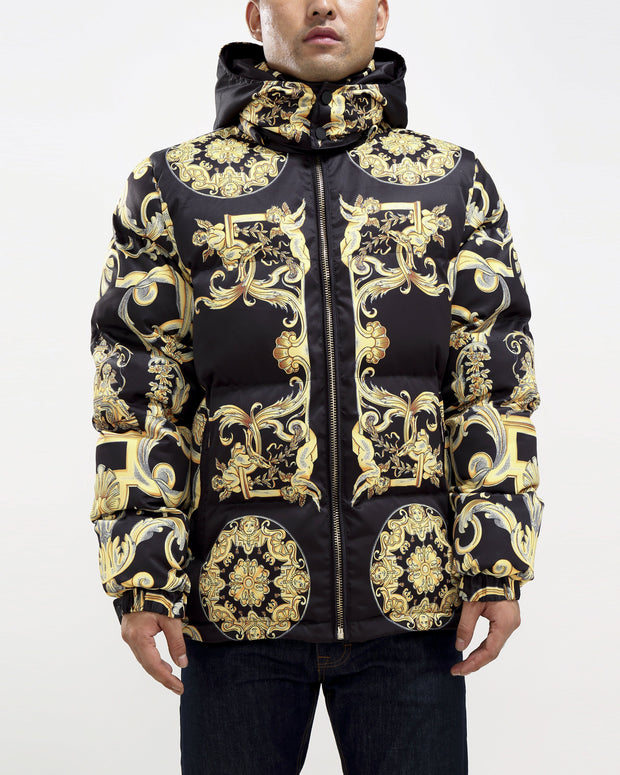 Hudson Outerwear baroque down jacket black jackets and outerwear TheDrop