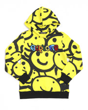 Hudson Outerwear kids euphoria smiles hoody yellow apparel TheDrop
