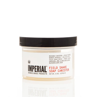 Imperial Barber Products imperial field shave soap canister wolf s head TheDrop