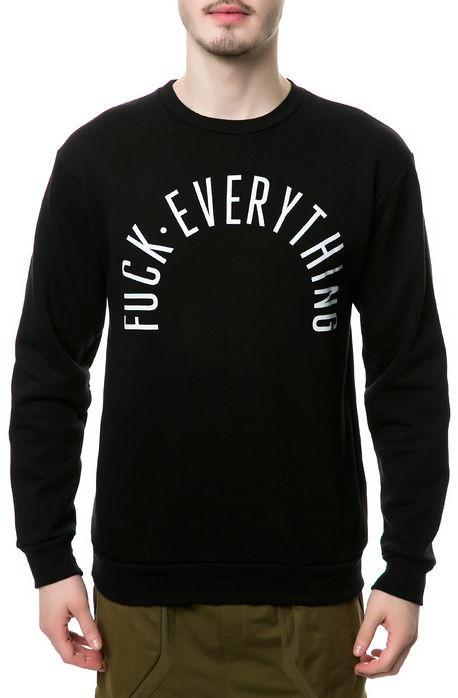 Kill Brand fuck everything arched crewneck hoodies and crewnecks TheDrop