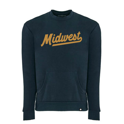 MADE MOBB midwest script crew navy hoodies and crewnecks TheDrop