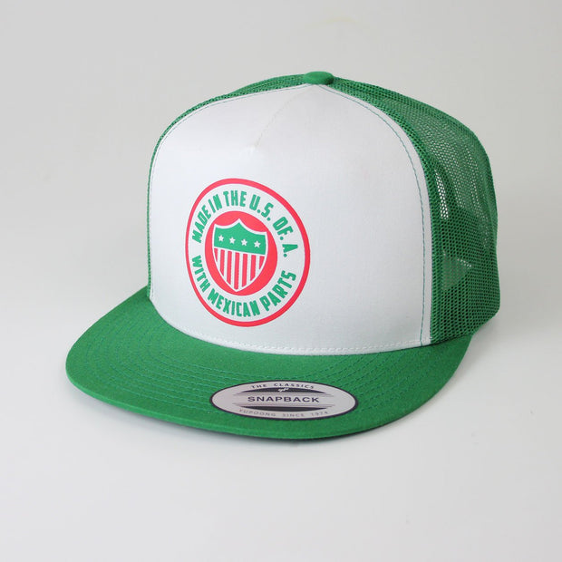 Mexicool™ usa with mexican parts trucker cap snapbacks TheDrop
