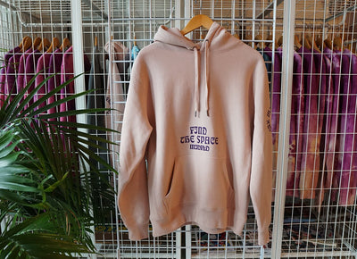 MIDFLD midfld tan purple heavyweight hoodie hoodies and crewnecks TheDrop