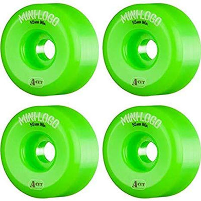 Mini Logo mini logo 53mm all green wheels oneup skate shop TheDrop
