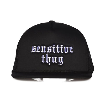Nerdy Fresh sensitive thug trucker hat 1 hats and beanies black TheDrop