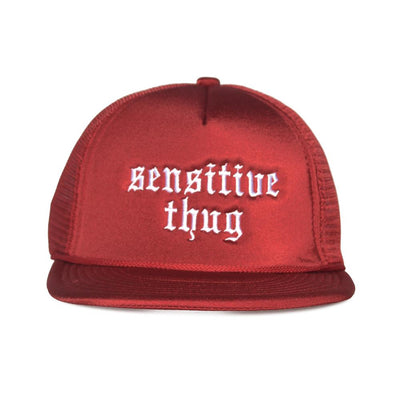 Nerdy Fresh sensitive thug trucker hat 2 hats and beanies red TheDrop