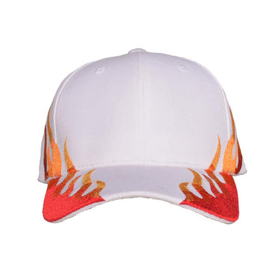 Nerdy Fresh the flames dad hat 1 hats and beanies white TheDrop