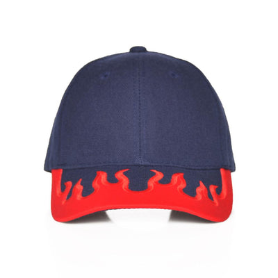Nerdy Fresh the flames dad hat 3 hats and beanies navy TheDrop