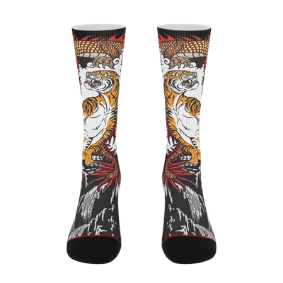 Parlor Junkie tiger and dragon socks TheDrop