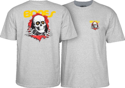 POWELL powell peralta ripper youth t shirt grey kinetic skateboarding grey TheDrop