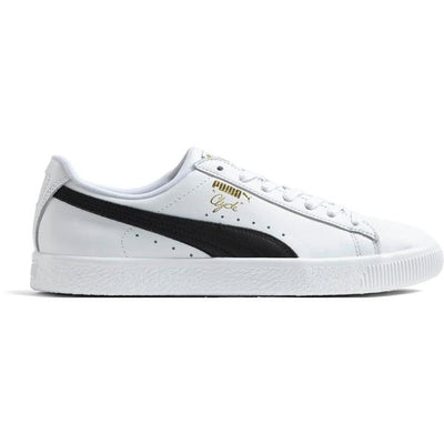 PUMA puma clyde foil white black leather west nyc white TheDrop