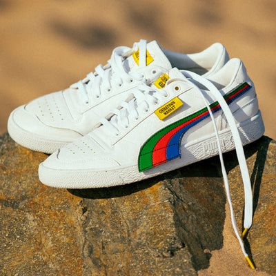 PUMA puma x chinatown market white leather west nyc white TheDrop