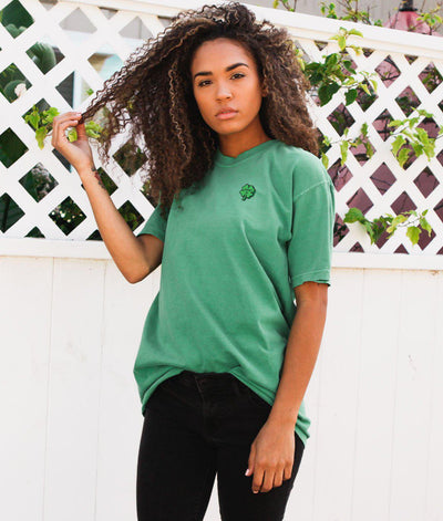 Riot Society Clothing comfort colors lucky u clover embroidered womens tee riot society TheDrop