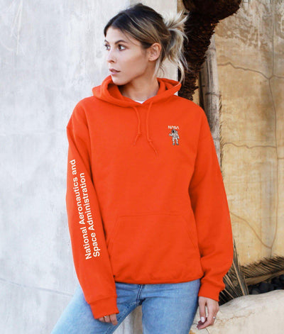 Riot Society Clothing nasa astronaut embroidered womens hoodie riot society orange TheDrop