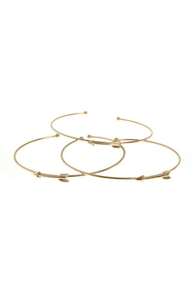 Seize Desist Los Angeles triple stacked arrow cuff bracelet seize desist gold TheDrop