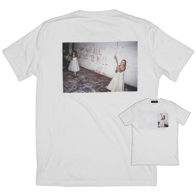 Skim Milk hell collab with nick zinner 1 tees white TheDrop