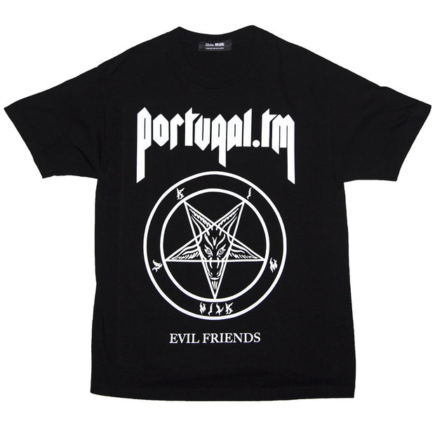 Skim Milk pentagram portugal the man collab tees black TheDrop