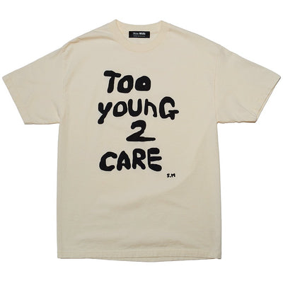 Skim Milk too young to care tees beige TheDrop